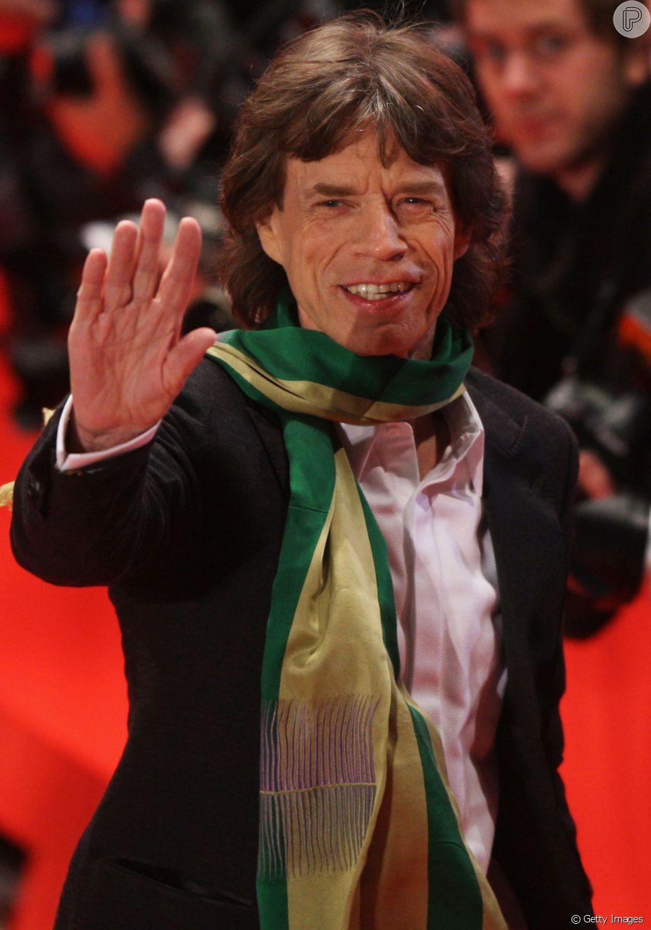 Mick Jagger foi ao estádio em Moscou assistir o jogo entre Inglaterra e Croácia