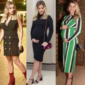Vestido curto, midi e longo: os looks de Andressa Suita na 2ª gravidez. Fotos!