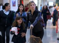 Estilosas! Grazi Massafera e filha, Sofia, usam look de inverno para viajar