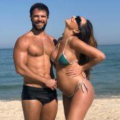 Grávida, Sabrina Sato vai à praia com Duda Nagle: '1º mergulho da nossa filha'