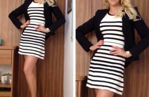 Ana Hickmann usa vestido decotado e mostra boa forma quatro meses após dar à luz
