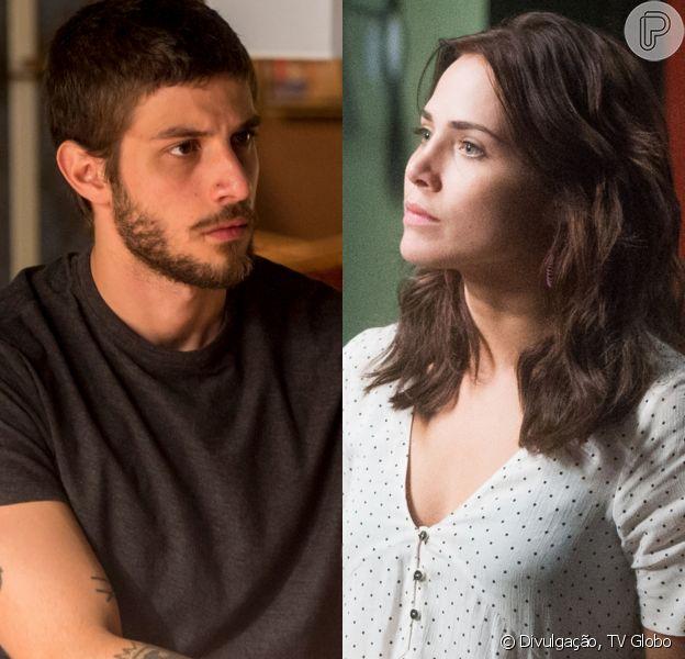 Ícaro (Chay Suede) pede Rosa (Letícia Colin) em casamento para conseguir provar a inocência de Luzia (Giovanna Antonelli) na novela 'Segundo Sol'
