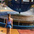 Grazi Massafera realizou sonho de conhecer o parque de diversões Universal Orlando Resort, na Flórida