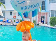 Karina Bacchi elogia o filho, Enrico, em aniversário de 1 ano: 'Luz radiante'