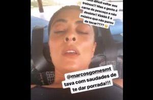 Juliana Paes mostra cansaço após treino de muay thai: 'Difícil voltar'. Vídeo!