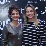 Fernanda Gentil e namorada, Priscila Montandon, prestigiam show de Fábio Jr.