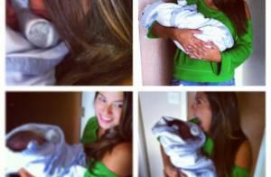 Petra Mattar posa com neto de Cristiana Oliveira: 'Novo amor da minha vida!'