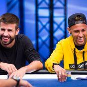 Neymar reencontra Piqué em torneio de pôquer em Barcelona: 'Tomei tudo dele'