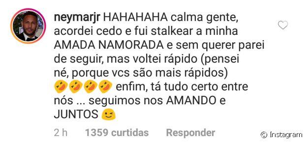 Neymar explicou por que deixou de seguir a namorada, Bruna Marquezine, no Instagram