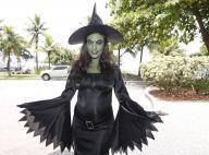 Grávida, Juliana Paes pinta o rosto de verde e se fantasia de bruxa para bloco
