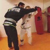 Luciano Huck filma o filho Benício derrubando professor em luta: 'Jiu-jitsu'
