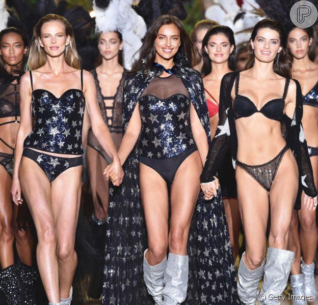 Desfile da marca de lingerie Intimissimi aconteceu em 5 de setembro de 2018 em Verona, na Itália