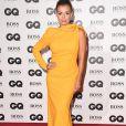 Katherine Jenkins usou look de seda amarelo vibrante da marca Maticevski, coleçãoinverno 2018