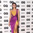 Zendaya misturou a tendência dos drapeados com brilho  da Alta-Costura Inverno 2018 de Ralph & Russo na edição 2018 do prêmio 'GQ Men of the Year'