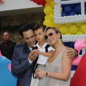 Eliana e João Marcelo Bôscoli comemoram aniversário de 3 anos do filho, Arthur