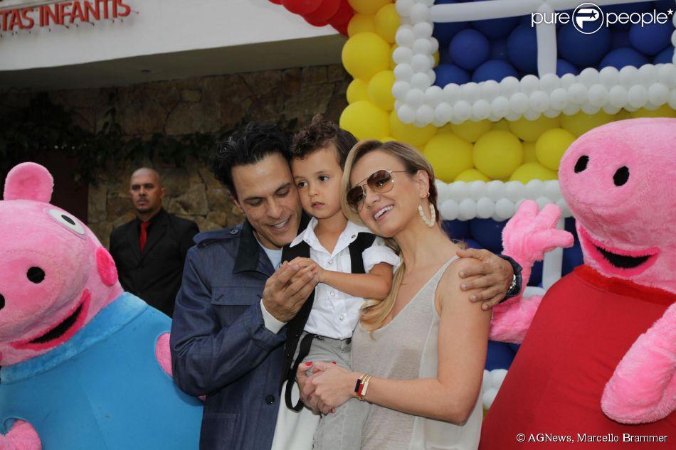 Ex-marido de Eliana e pai de Arthur, João Marcelo Bôscoli esteve presente no aniversário