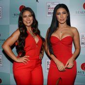 Simone e Simaria valorizam silhuetas em looks vermelhos decotados. Veja fotos!