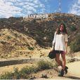 Bruna Marquezine visita o letreiro de Hollywood, em Los Angeles, nos Estados Unidos, antes de começar a rodar o filme 'Breaking Through'