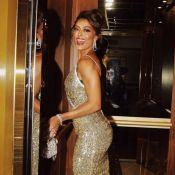 Em Portugal, Juliana Paes prestigia evento de gala com look brilhoso e decotado