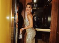 Em Portugal, Juliana Paes prestigia evento de gala com look brilhoso e decotado