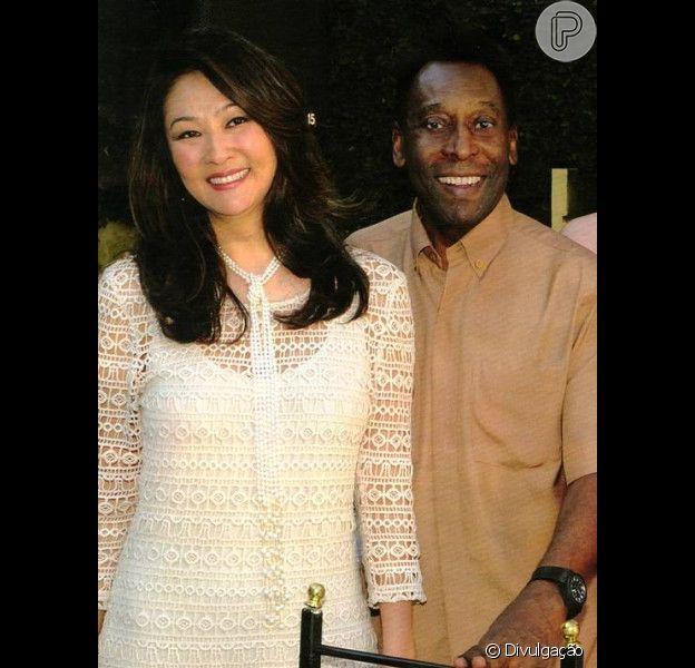 Pelé está de casamento marcado com a empresária Márcia Cibele Aoki