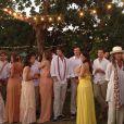 Bia Antony reuniu apenas familiares e amigos próximos em seu casamento com Marcelo Ciampolini
