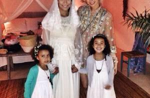 Bia Antony divulga fotos de seu casamento com Marcelo Ciampolini, na Bahia