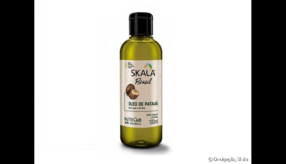 O óleo de Patauá da linha Skala Brasil é pouco concentrado para evitar o aspecto pesado, e ajuda a controlar o frizz do cabelo fino