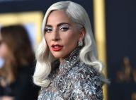 Lady Gaga orna maquiagem e longo Givenchy prata em première de filme. Ao look!