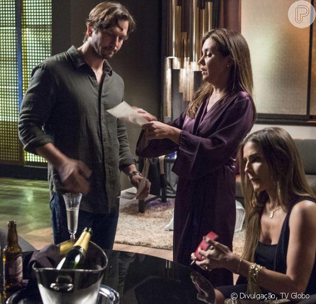 Laureta (Adriana Esteves), Remy (Vladimir Brichta) e Karola (Deborah Secco) retomam a aliança nos próximos capítulos da novela 'Segundo Sol'
