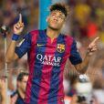 Neymar fez uma bela 're-estreia' na partida do Barcelona contra o León, do México, na tarde desta segunda-feira, 18 de agosto de 2014