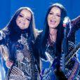 Maiara e Maraisa apostaram em looks Balmain na gravação do novo DVD, Reflexo
