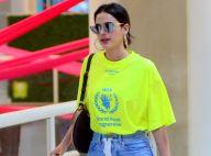 Neon & casual chic: Bruna Marquezine alia jeans, salto e T-shirt em aerolook