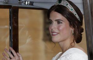 Corpete e tiara de diamantes: o look de noiva da princesa Eugenie de York