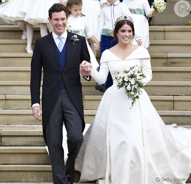 Princesa Eugenie de York se casa com Jack Brooksbank na Capela de São Jorge, no Castelo de Windsor, Inglaterra, na manhã desta sexta-feira, 12 de outubro de 2018