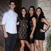 Fátima Bernardes mostra foto de infância dos trigêmeos Laura, Beatriz e Vinícius