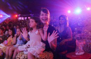 Luana Piovani e Pedro Scooby levam os filhos Dom, Bem e Liz ao circo. Veja fotos