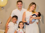 Wesley Safadão reúne família para comemorar 1º mês de Dom: 'Me sinto abençoado'