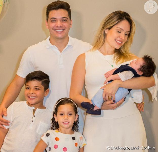 Wesley Safadão e Thyane Dantas comemoraram o primeiro mês do filho Dom nesta quinta-feira, 18 de outubro de 2018
