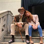 Marina Ruy Barbosa destaca aprendizado com Marcos Caruso em novela: 'Emociona'