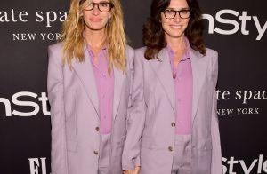 De mãos dadas, Julia Roberts e estilista exibem looks Givenchy iguais em prêmio