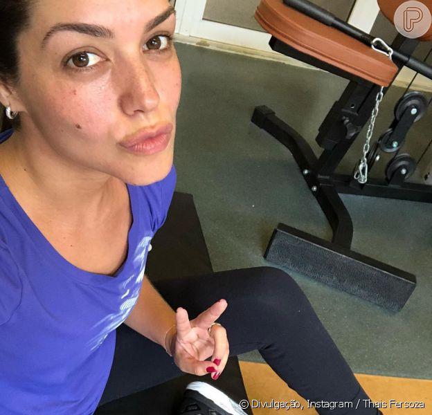 Mãe de dois filhos, Thais Fersoza mantém a boa forma com exercícios físicos