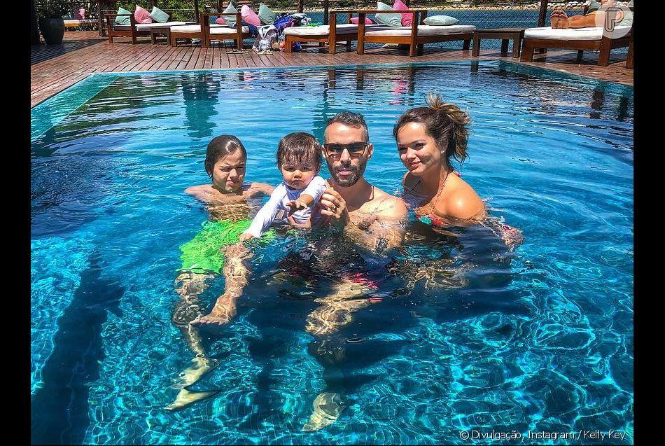 Filha de Kelly Key, Suzanna elogiou o pai Mico Freitas em aniversário neste sábado, 27 de outubro de 2018