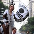 Leandra Leal desfila com o Bola Preta há cinco anos