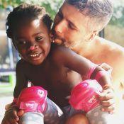 Bruno Gagliasso exibe rosto pintado pela filha, Títi: 'É uma artista plástica'