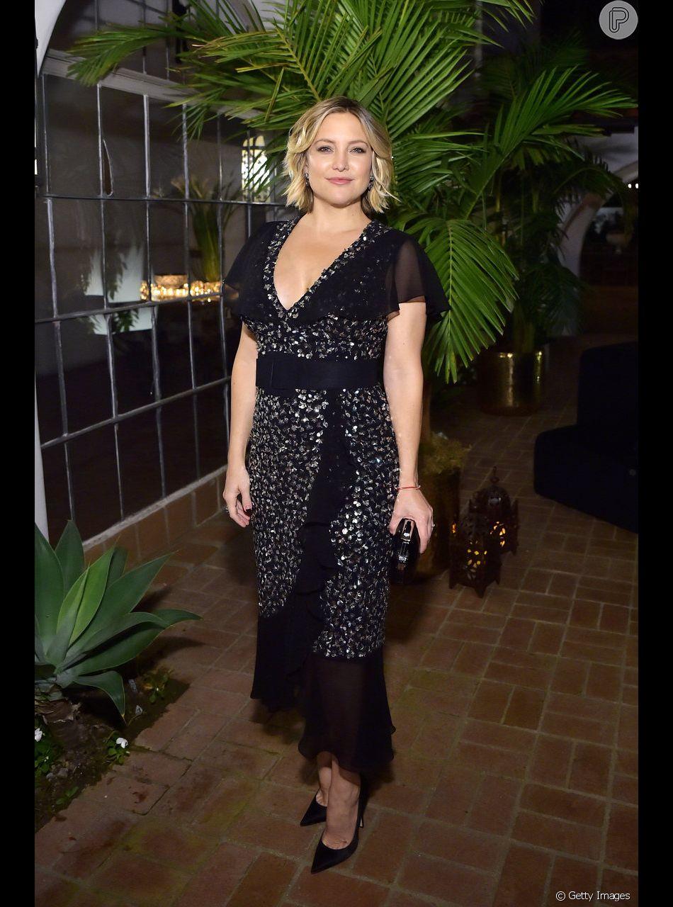 Famosas em evento promovido nesta quarta-feira (7 de novembro) por Michael Kors para promover Kate Hudson a embaixadora do World Food Programme, da ONU. A homenageada da noite vestiu preto