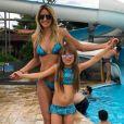 Rafaela Justus, filha de Ticiane Pinheiro e Roberto Justus, curtiu a piscina em grande estilo