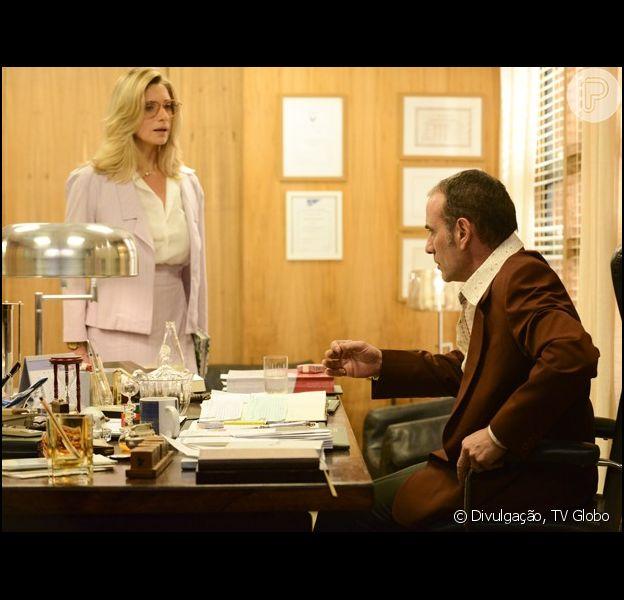 Fernando (Marco Ricca) dispensa Gilda (Leticia Spiller) de seu emprego na VIP Turismo, em 'Boogie Oogie', em 13 de setembro de 2014