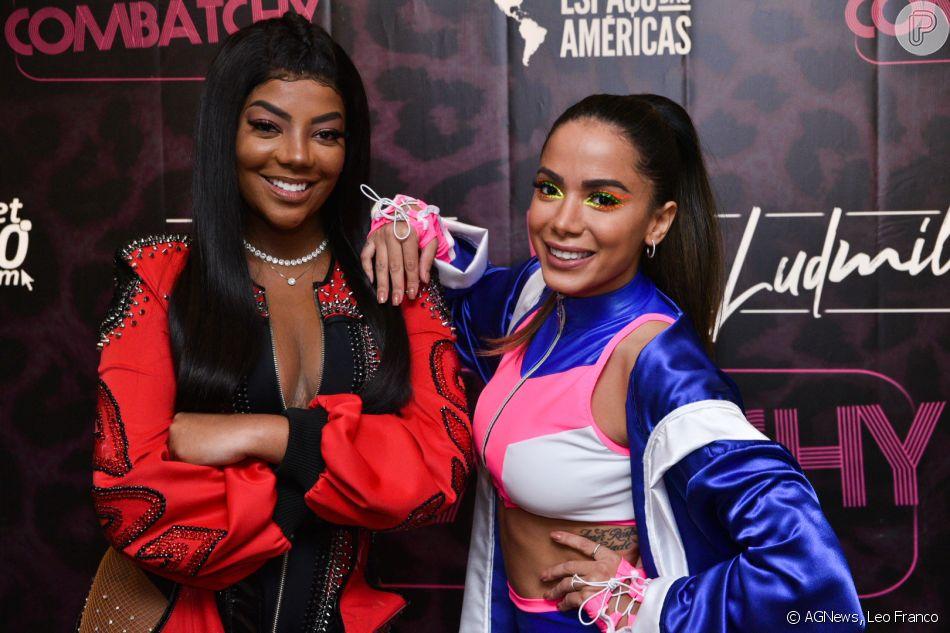 Anitta e Ludmilla fizeram show juntas na  festa Combatchy, no Espaço das Américas, em São Paulo, nesta segunda-feira, 19 de novembro de 2018