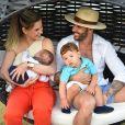 Andressa Suita e Gusttavo Lima são pais de Samuel, de 3 meses, e Gabriel, de 1 ano